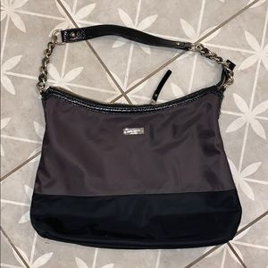 Brown & Black Color Block Shoulder Bag